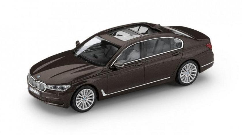 Macheta BMW Seria 7 Long 2017 Jatoba Brown 1:43