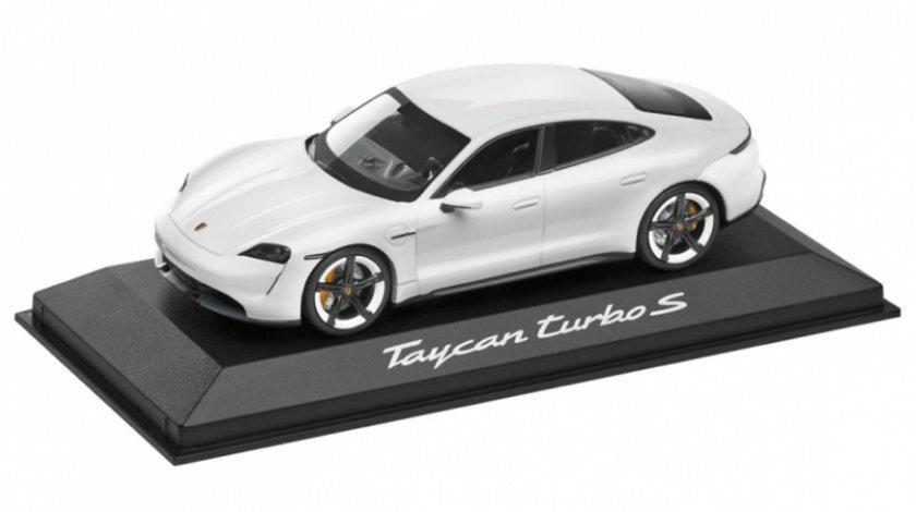 Macheta Oe Porsche Taycan Turbo S 1:43 Alb Metalizat WAP0207800L