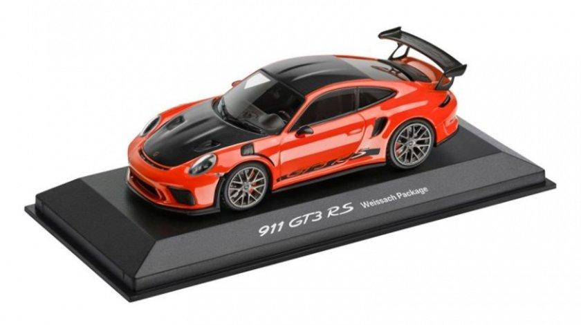 Macheta Porsche 911 GT3 RS Portocaliu Lava Oe Porsche WAP0201620J
