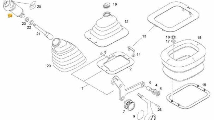 Maciulie schimbator viteze Man TGL motor 4580 cmc cutie viteza ZF Ecolite 6S850 MAN OE 81326200056