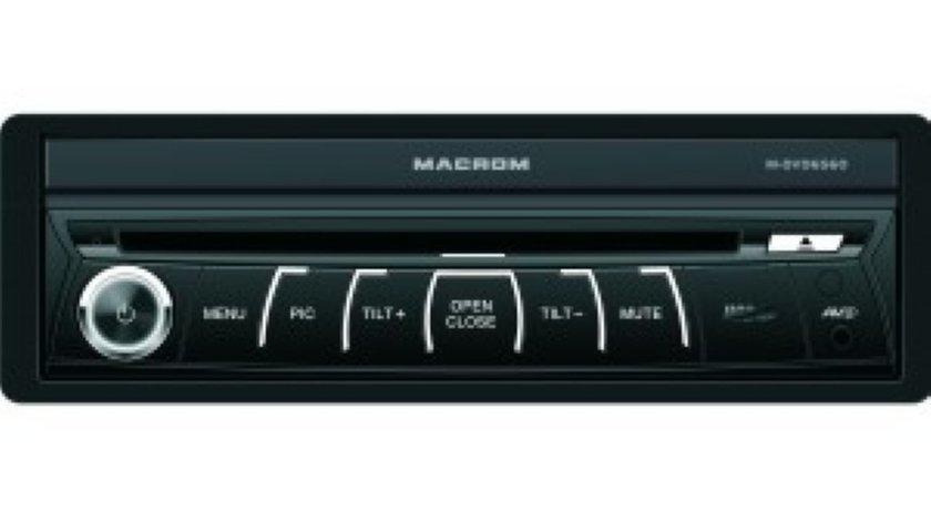 MACROM M DVD 6560 DVD RETRACTABIL 1 DIN UNIVERSAL LCD 7 GPS TV CARKIT MODEL 2014
