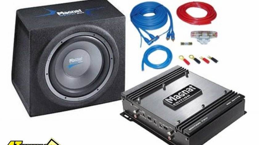 Magnat Edition B30 Bass Pack pachet subwoofer auto KIT INSTALARE CADOU