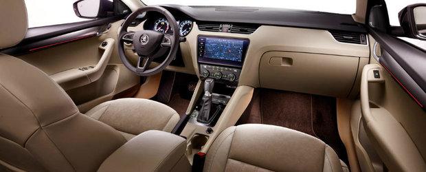 Mai mult spatiu si un plus de eleganta. Asa este caracterizat interiorului Skodei Octavia facelift
