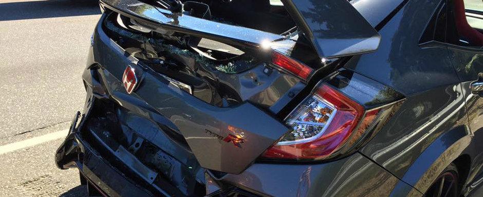 Mai rau de atat nici ca se putea! I-au distrus noua masina de 306 CP imediat ce a platit pentru ea