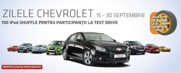 Mai sunt 2 zile! Zilele Chevrolet, 15-30 septembrie