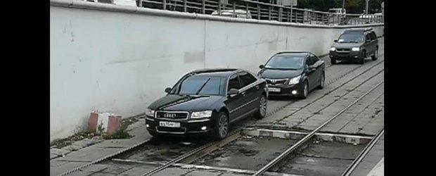 Mai tare ca in Romania: masinile merg pe sine in Rusia