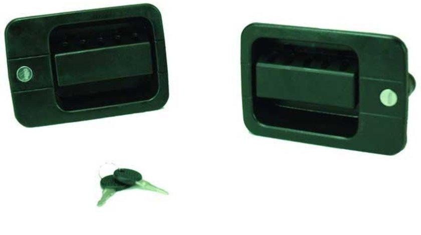 Maner exterior deschidere usa Iveco Eurocargo 1991-2002 Set Stanga + Dreapta cu 2 Butuci + cheie 500335296