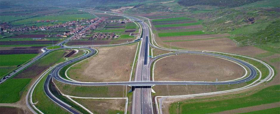 Mare realizare! Dupa 4 ani de asteptare, autoritatile au dat in folosinta nici 30 de kilometri din autostrada Sebes-Turda