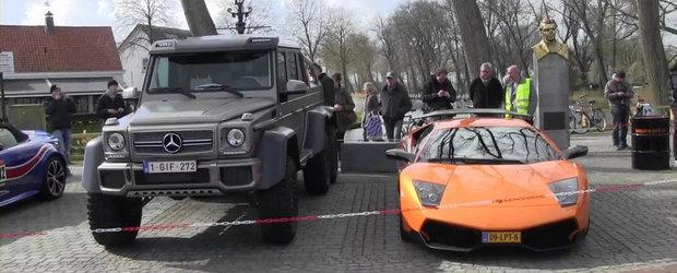 Marimea conteaza? Cum arata un Mercedes 6x6 pe langa un... Lamborghini
