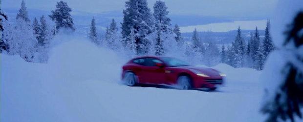 Markku Alen testeaza pe zapada noul Ferrari FF