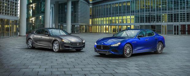 Maserati Ghibli facelift debuteaza cu 430 de cai putere si doua niveluri noi de echipare