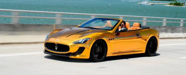 Maserati GranCabrio MC finisat in auriu cromat: Extravaganta sau prost gust?