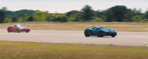 Masina care face suta in mai putin de doua secunde bate un Ferrari de 1000 de cai de parca ar avea motor diesel. Video