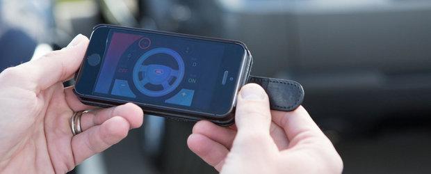Masina care poate fi condusa de la distanta cu ajutorul telefonului mobil
