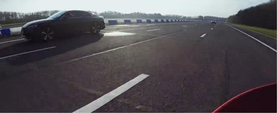 Masina care-ti castiga o cursa si fara cutie automata sau tractiune integrala. Uite-o aici cum bate un RS5