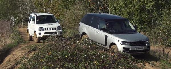 Masina de opt ori mai ieftina a castigat: Suzuki a batut Range Rover pe teren accidentat!
