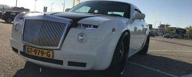 Masina perfecta pentru nuntile... de prost gust. Are grila de Rolls-Royce si tocmai a fost scoasa la vanzare