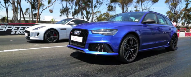 Masina sport vs break-ul incapator: Liniuta intre Jaguar F-Type R si Audi RS6. Cine castiga?