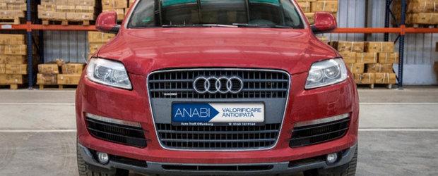 Masini de lux confiscate de autoritati, scoase la vanzare pentru preturi de nimic. Un Audi Q7 din 2008 costa doar 4.400 de euro
