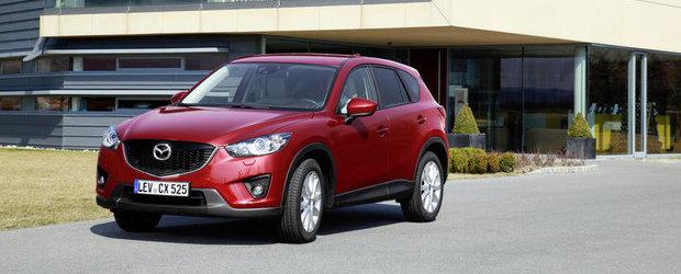 Mazda CX-5 diesel cu un consum de 4,6 l/100km este disponibila in Romania