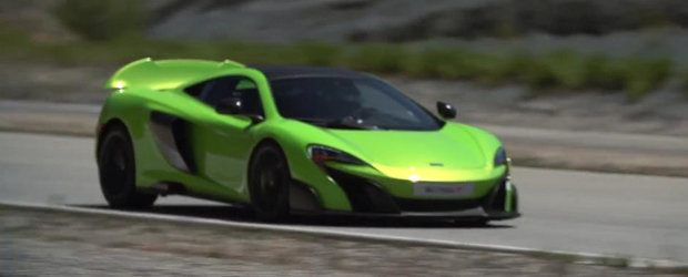 McLaren 675LT ne arata eleronul sau activ in actiune