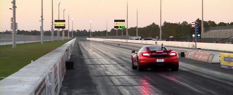 McLaren MP4-12C parcurge sfertul de mila in numai 10.55 secunde. VIDEO AICI!