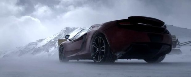 McLaren MP4-12C vs. snowboarder