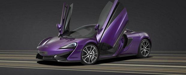 McLaren ne serveste un 570S decorat cu mov si carbon