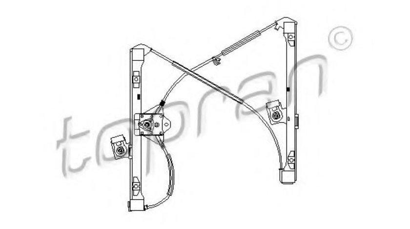 Mecanism actionare geam VW POLO CLASSIC (6KV2) (1995 - 2006) TOPRAN 111 254 piesa NOUA