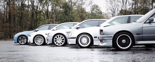 MEGA TEST comparativ cu toate generatiile BMW M3 lansate pana acum