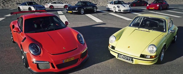 MEGA TEST comparativ cu toate generatiile Porsche 911 RS lansate pana acum
