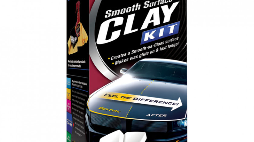 Meguiar's Kit Plaselina Curatare Smooth Surface Clay Kit 473ML G1016