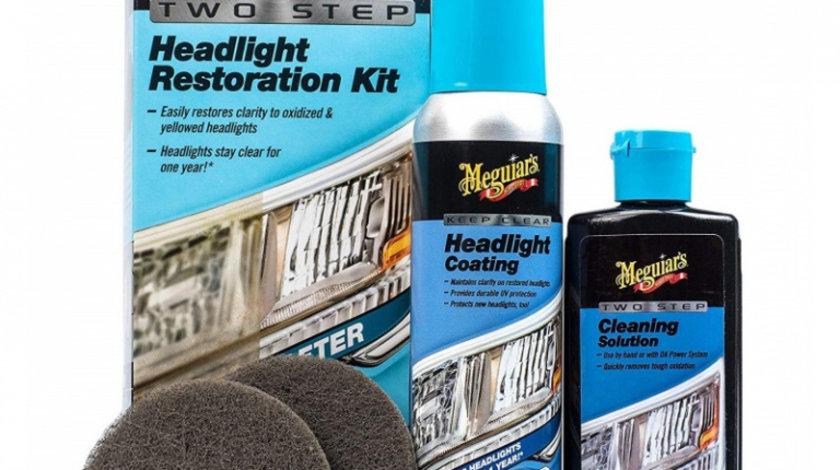 Meguiar's Kit Polish Faruri Two Step Headlight Restoration Kit G2970