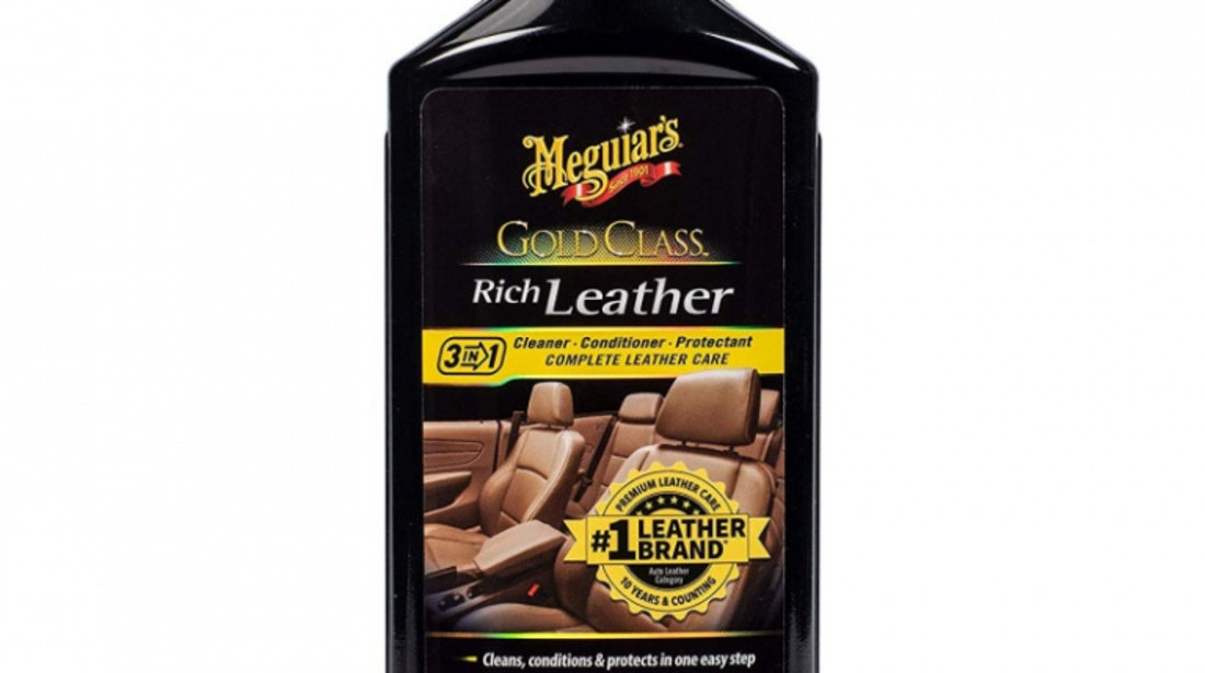 Meguiar's Solutie Curatat Si Intretinere Piele Gold Class Leather Cleaner & Conditioner 414ML G7214