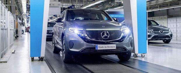 Mercedes 1 - Audi 0. Noul EQC este cu 8.600 de euro mai ieftin decat E-Tron, SUV-ul electric din Ingolstadt