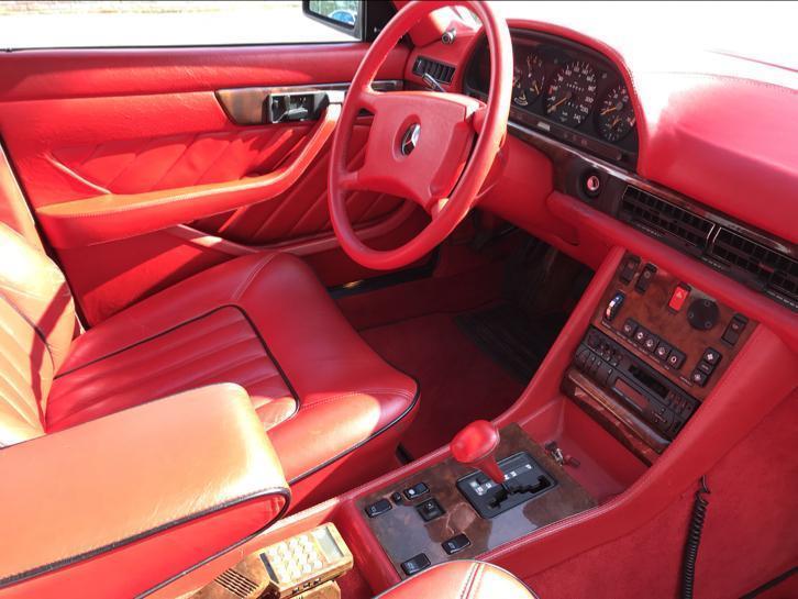 Mercedes 500 SEL cu interior Hermes - Mercedes 500 SEL cu interior Hermes