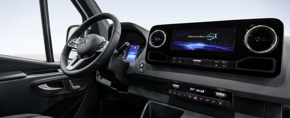 Mercedes a publicat primele imagini oficiale cu noul Sprinter. Utilitara germana e mai luxoasa decat multe automobile cu pretentii