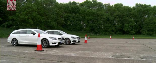 Mercedes A45 AMG. Mercedes CLS63 AMG. DRAG RACE!