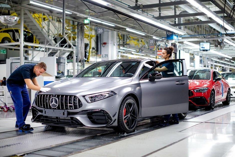 Mercedes A45 AMG - Poze din fabrica