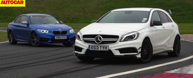 Mercedes A45 AMG vs. BMW M235i Coupe: Care-i mai rapid pe circuit?
