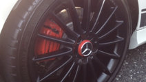Mercedes AMG wheel centre caps red 75mm