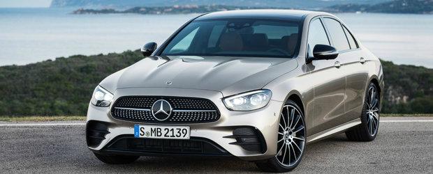 Mercedes-Benz E-Class facelift ni se arata in toata splendoarea lui. Noutatile primite de sedanul german