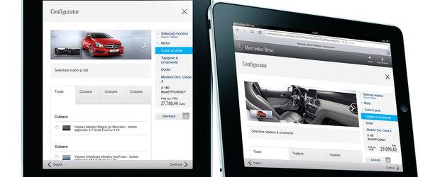 Mercedes-Benz Romania a lansat o versiune a site-ului pentru tablete