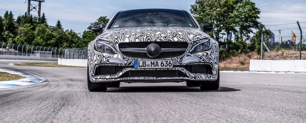 Mercedes C63 AMG Coupe revine in noi imagini oficiale, debuteaza pe 19 august