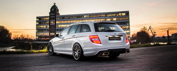 Mercedes C63 AMG Estate by Loewenstein: Cum sa faci piata in mare stil