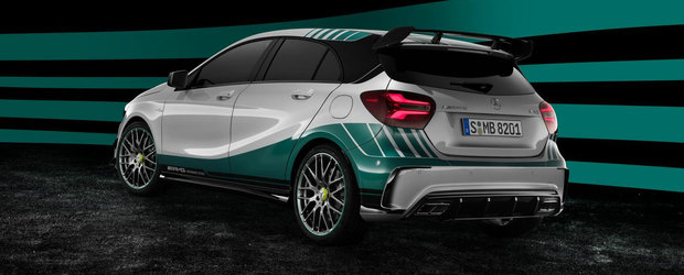 Mercedes celebreaza succesul din Formula 1 cu un hot-hatch de 381 CP
