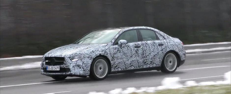 Mercedes continua testele cu noua versiune de caroserie. Poze clare cu viitorul model in patru usi