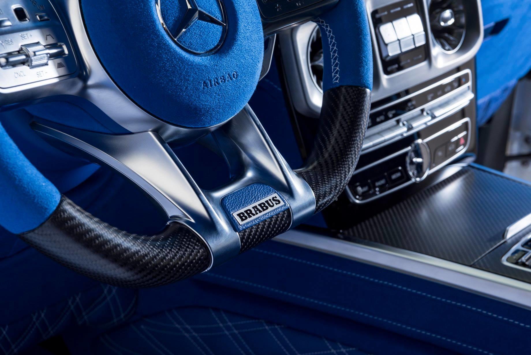 Mercedes G-Class cu interior albastru - Mercedes G-Class cu interior albastru