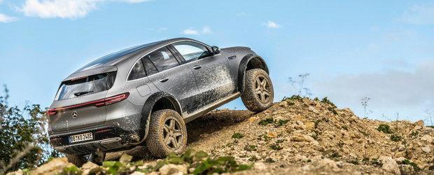 Mercedes lanseaza EQC 4x4², unicul SUV electric cu punti pe portale din lume. POZE