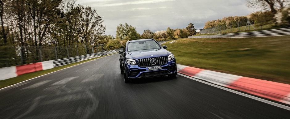 Mercedes mai doboara un record: GLC bate Stelvio si devine cel mai rapid SUV de pe 'Ring